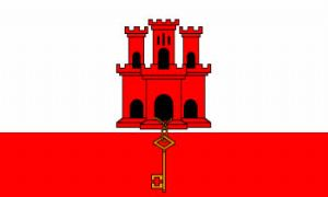 Gibraltar Large Country Flag - 3' x 2'.
